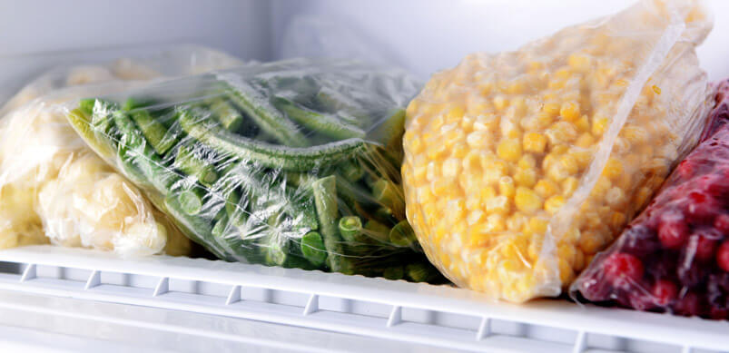 Frozen-Cauliflower-Beans-Sweetcorn-And-Berries-In-Freezer